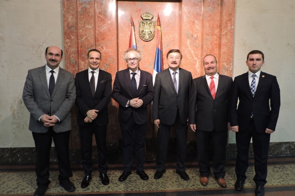 The Minister of Culture and Information of the Republic of Serbia  Mr. Ivan TASOVAC met with the delegation of TURKSOY in his office