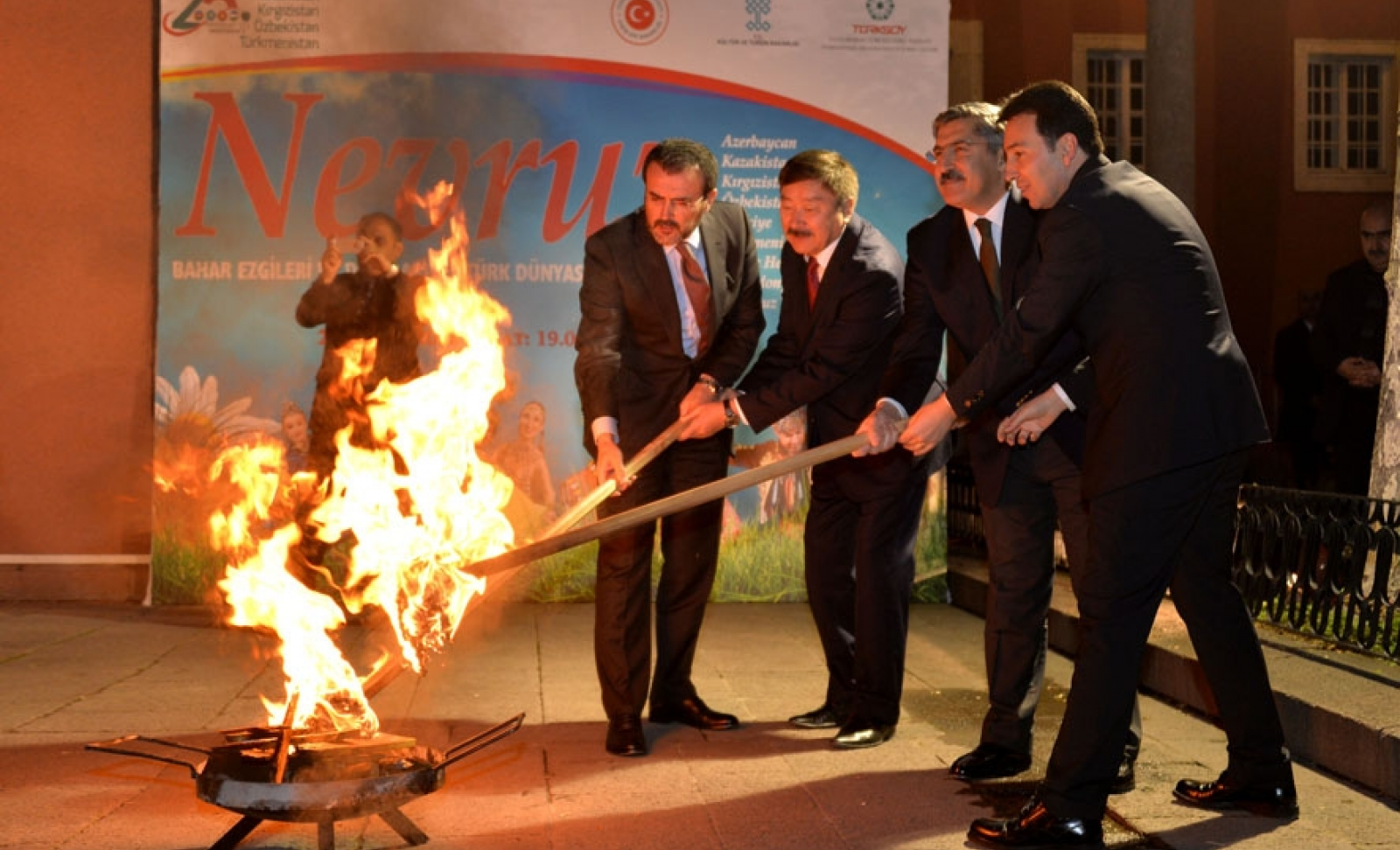 The Nowruz Bonfire was lit by the Minister of Culture and Tourism of the Republic of Turkey Mr. Mahir Unal