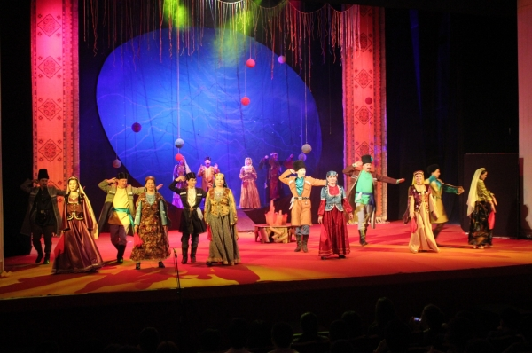 A play by M. F. Ahundzade performed in Kazakhstan