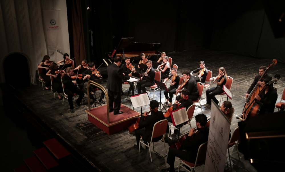 The Youth Chamber Orchestra of TURKSOY performed at the Summer Festival of Ohrid