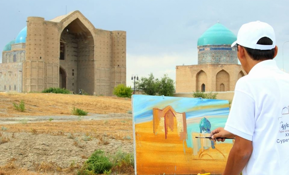 Painters of the Turkic World came together in Turkistan