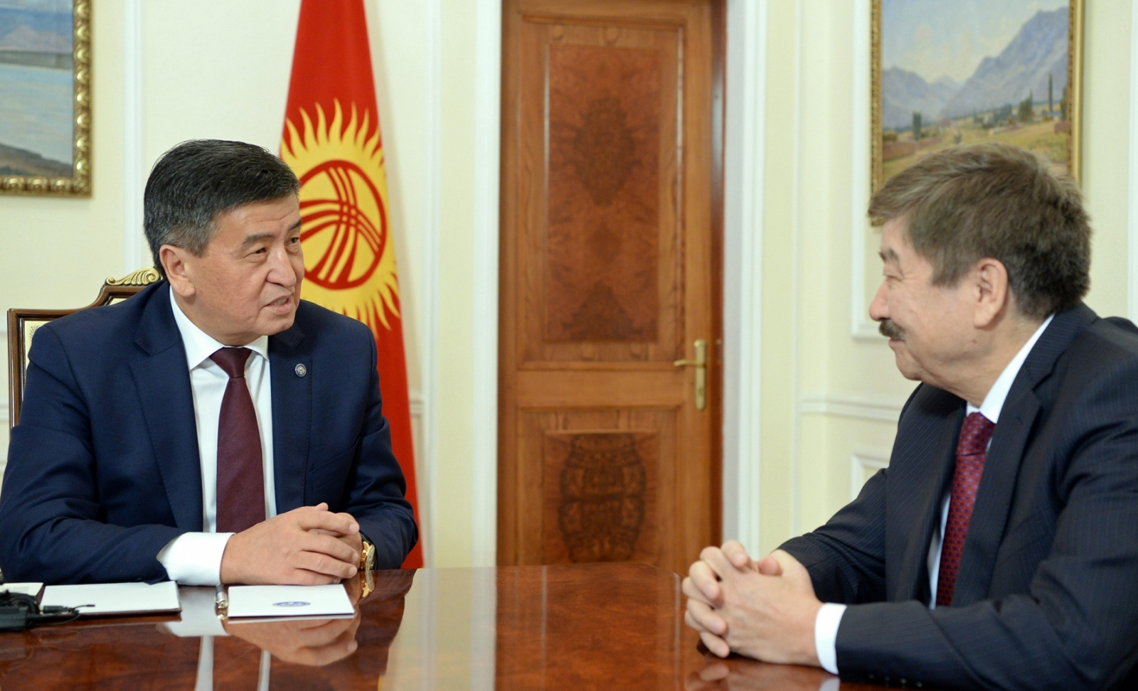 "The President of the Kyrgyz Republic  Ceenbekov: ""We are grateful to TURKSOY for having dedicated the year 2018 to the commemoration of Chingis Aitmatov"