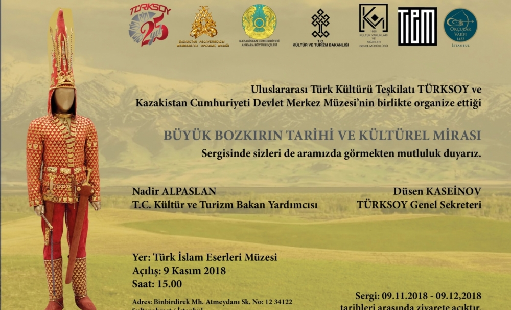 "Exhibition on ""The Historical and Cultural Heritage of the Great Steppe"" in Turkey"