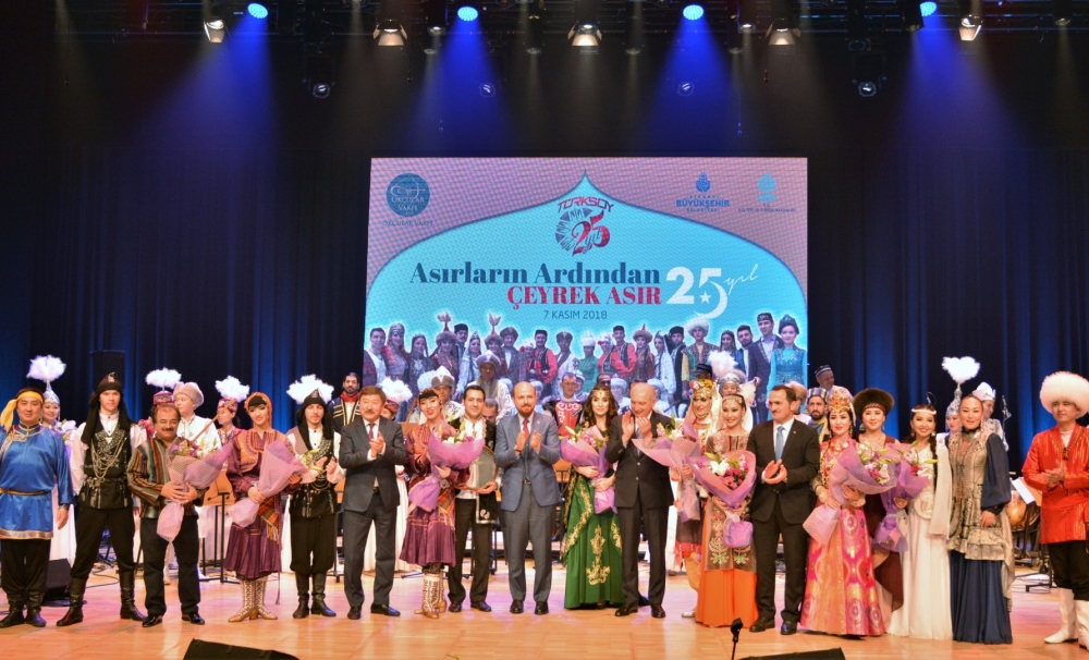 Unforgettable performance of the Orchestra of Folk Instruments of TURKSOY in Istanbul