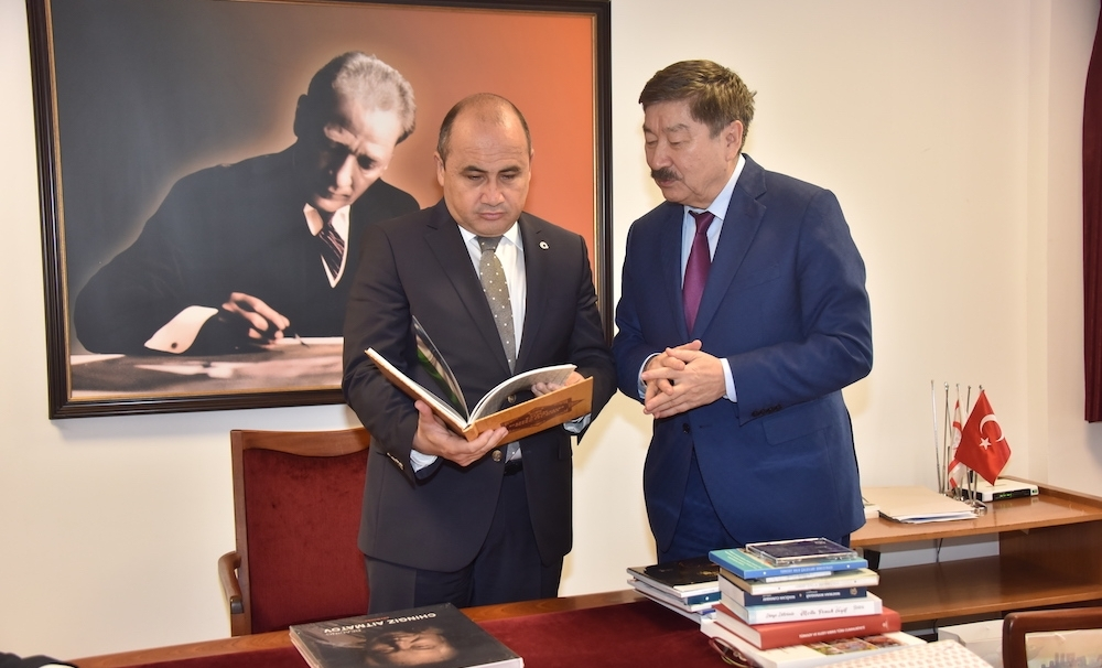 The Ambassador of Turkey to Nicosia met with a delegation of TURKSOY in his office