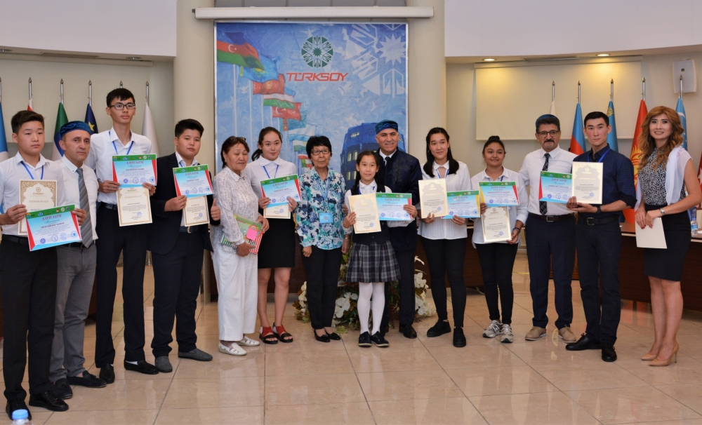 Award-winning Kazak students who took part in Science Olympics visited TURKSOY Headquarters