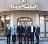 The Mayor of the Metropolitan Municipality of Hatay visited TURKSOY Headquarters