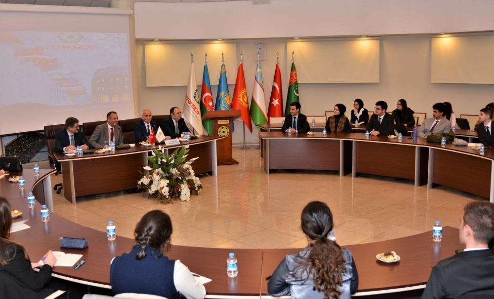Meetings of Future diplomats in TURKSOY Headquarters are going on