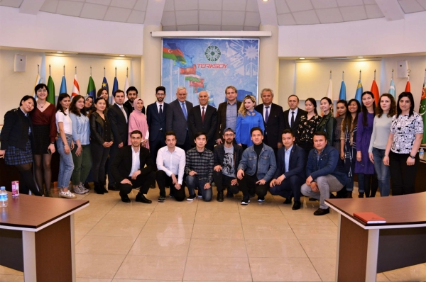 Students from Universities of the Foundation of Parliamentarians of the Turkic World visited TURKSOY Headquarters