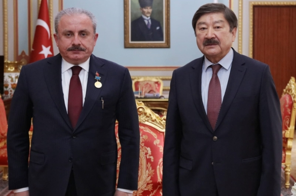 Abay's Gold Medal of TURKSOY handed over to the President of the Grand National Assembly of the Republic of Turkey