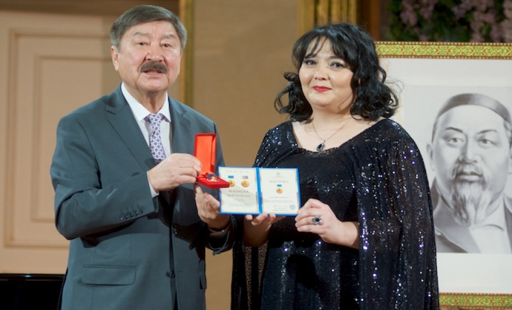 Medal of Abay awarded to artists of the Astana Opera for their contribution to culture and art